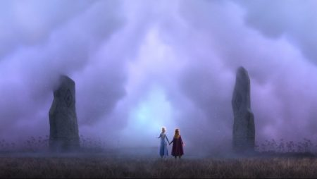 Elsa & Anna in the mist